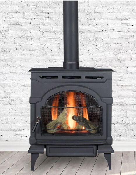 Majestic Oxford Direct Vent Gas Stove Classic Black Standing Pilot NG OXDV30SP