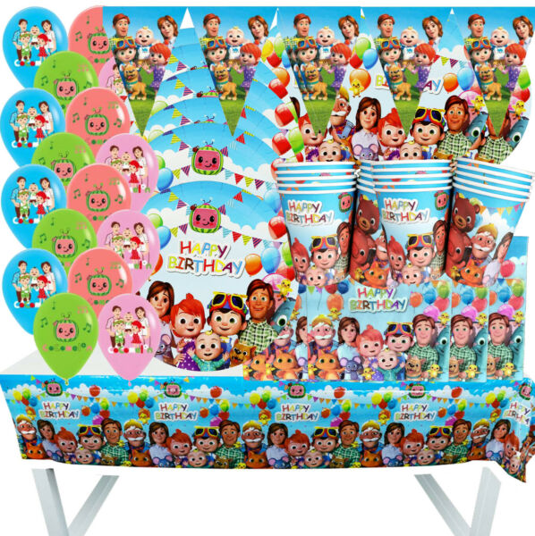 COCOMELON BABY BUM CUPCAKE BALLOON CUP PLATE PARTY BANNER DECORATION TABLE COVER $3.49