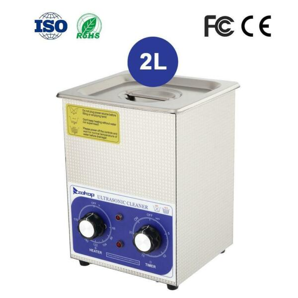 ZOKOP 2L Stainless Steel Ultrasonic Cleaner Sonic Cleaning Jewel Equipment Parts $48.69
