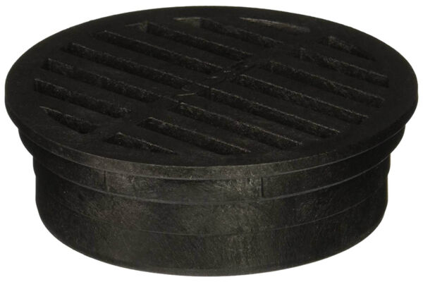 NDS 11 PVC Round Grate 4quot; Black