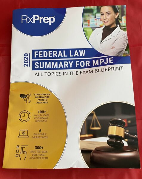 RxPrep Federal Law Summary for MPJE 2020; All Topics In The Exam Blueprint