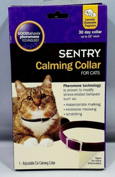 Sentry Calming Collar For CATS 1 Count 30 Day Collar Fits up to 15quot; Neck 1018 $15.99