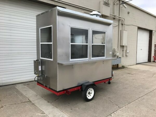 NSF HOT DOG STAND IN MOBILE FOOD CART CATERING TRAILER KIOSK STAND $9289.00