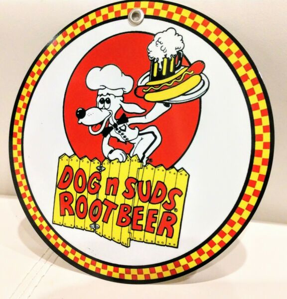 Dog and Suds restaurant fast food Sign $13.80