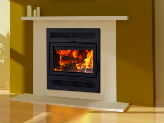 Supreme Astra 24 Zero Clearance Wood Burning Fireplace with Cast Iron Panels
