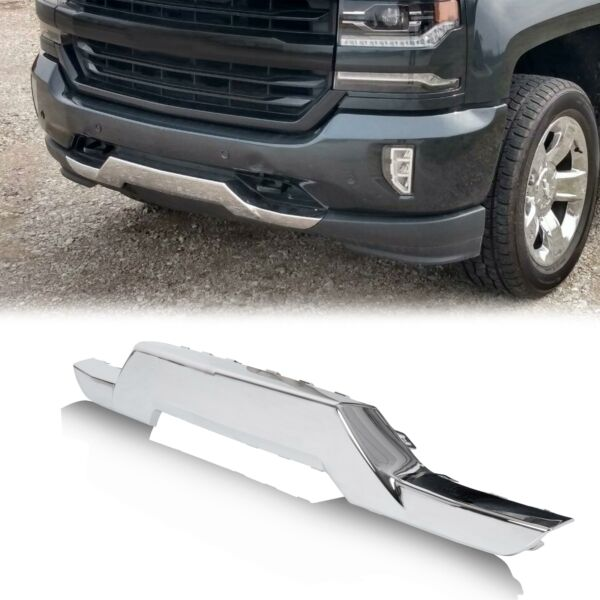 Front Bumper Chrome Skid Plate For Chevrolet 16 18 Silverado 1500 OE replacement