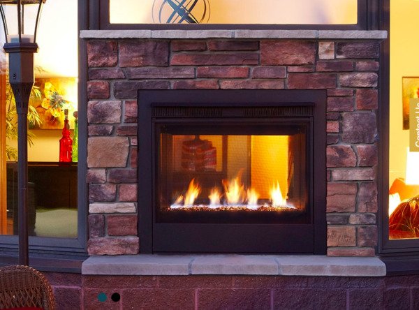 Majestic Twilight Modern IndoorOutdoor Gas Fireplace Contemporary NG  36