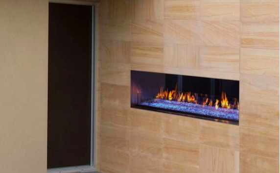 Majestic Palazzo 48 See-Through Linear Outdoor Gas Fireplace NG ODPALGST-48
