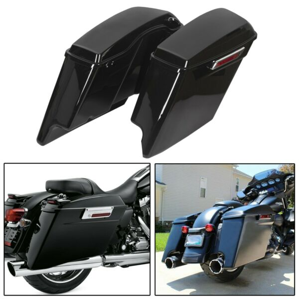5quot; Stretched Extended Hard Saddle Bags For Harley Touring Road King 1993 2013 $239.50