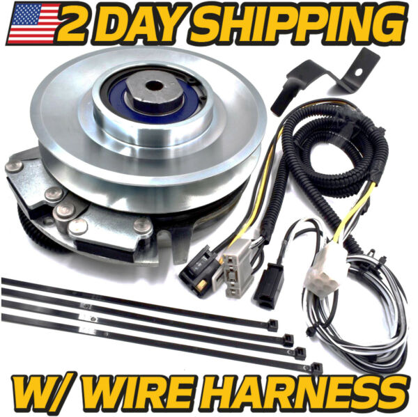 PTO Deck Blade Clutch amp; Wire Harness Kit replaces John Deere L120 L130 Tractor