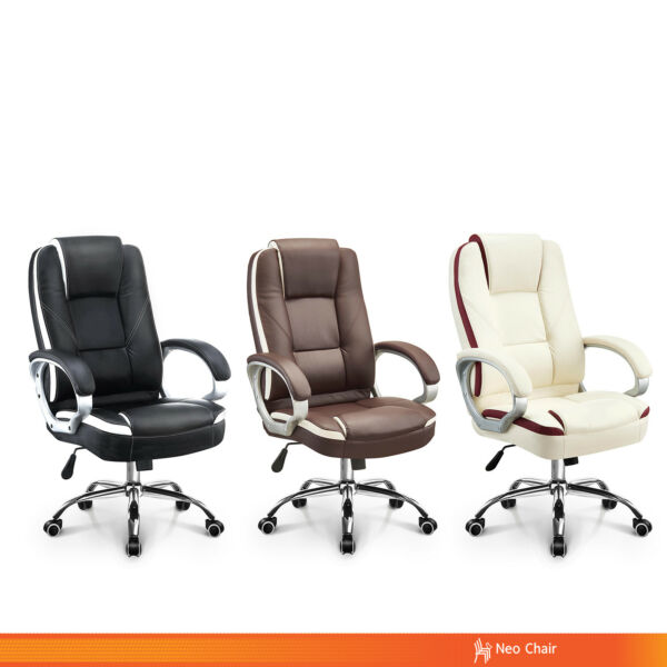 Office Chair Executive Computer Desk Chair Gaming - Ergonomic High Back Swivel $99.98