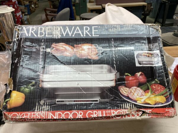 New* Farberware Rotisserie Grill - Smokeless Indoor - Open Hearth R4550