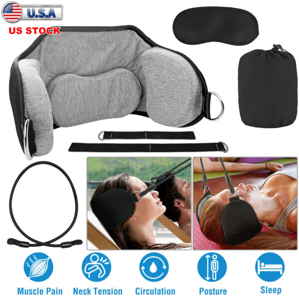 Head Hammock for Neck amp; Headaches Pain Relief Cervical Traction Stretcher w Bag $15.21