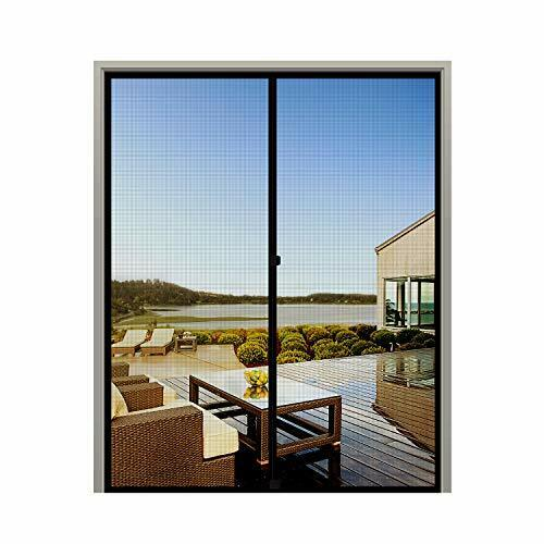 MAGZO French Screen Door 72 x 80 Durable Fiberglass Mesh with Heavy Duty Full