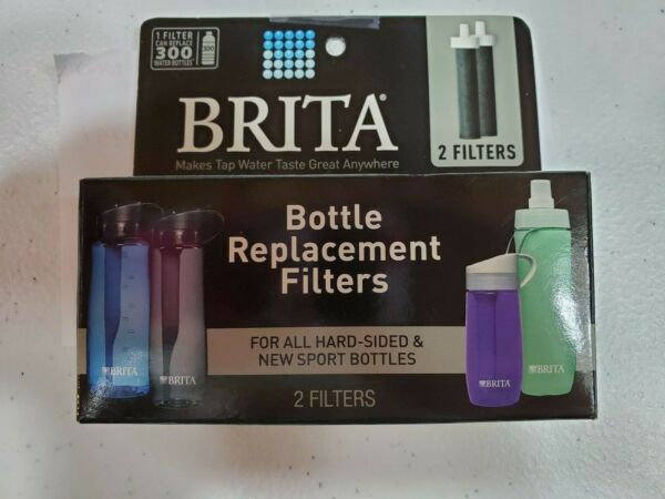 Brita Filter BB06 2 Pack Water Bottle Replacement Filters Fits Hard Sided Bottle