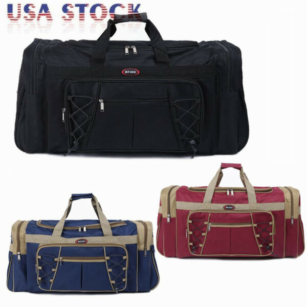 26quot; Waterproof Overnight Tote Travel Gym Sport Bag Duffle Carry On Luggage