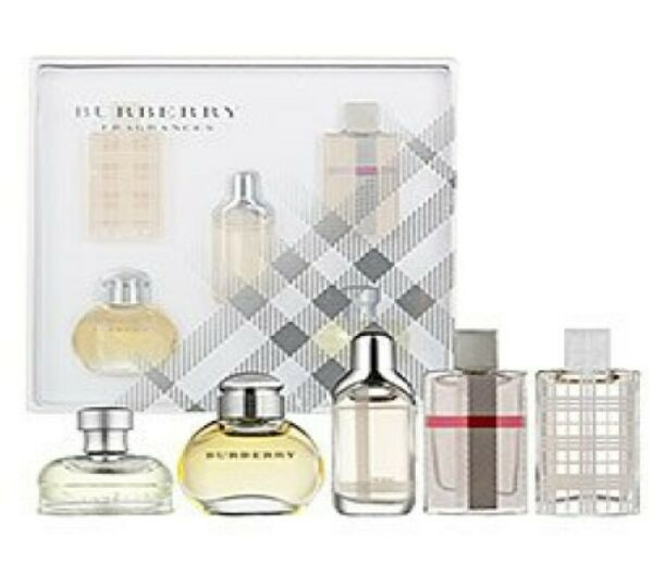 BURBERRY FOR WOMEN 0.15 OZ 50 ML EDP 5 PC GIFT SET BEAT LONDON BRIT WEEKEND $39.99