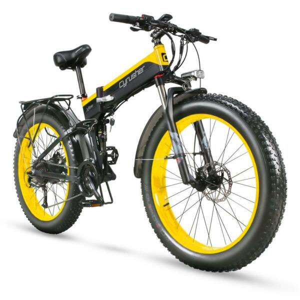 Cyrusher Electric Bike XF700 400W 36V 21S Electric Folding Bike Mountain Bike $1099.00