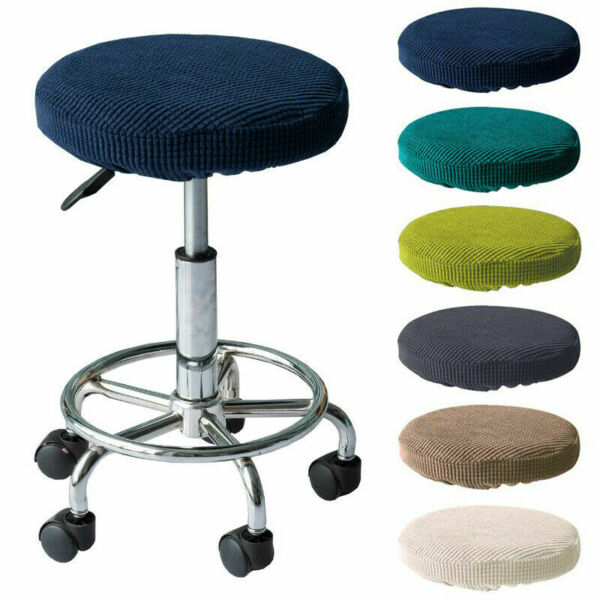 Removable Round Universal Elastic Chair Cover Bar Stool Seat Cover Slipcover $4.59