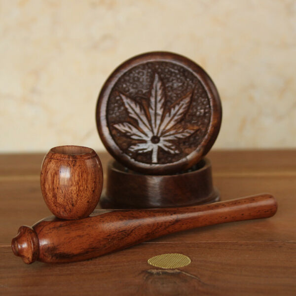 Esquisite Cl Hand Crafted Smoking Pipe Tobacco Premium Wood Pipe amp; herb Grinder $13.38