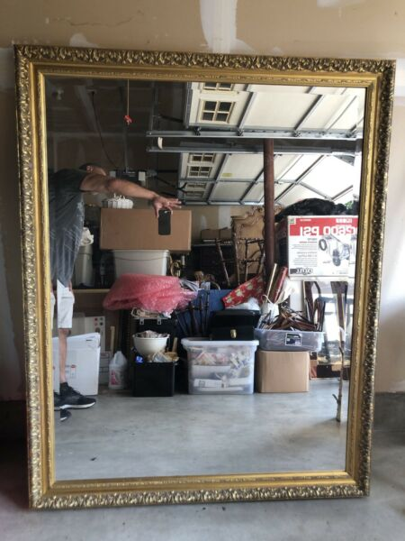 Large Wood Gold Framed 59 x 47 Mirror