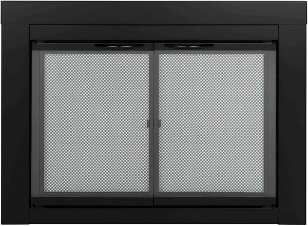 Small Glass Fireplace Mesh Screen Cover Door Doors Pleasant Hearth AN 1010