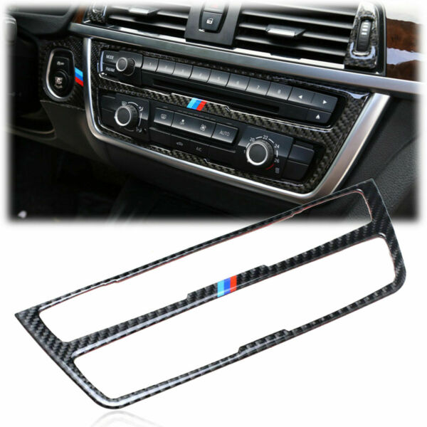 Rear Carbon Fiber Center AC CD Console Cover Trim Decal For BMW F30 F31 F32 M3 $36.65