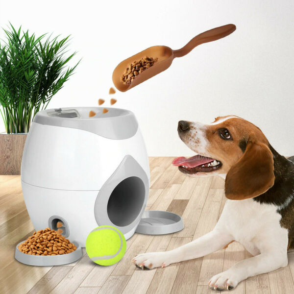 Automatic Toy Ball Launcher For Pets Food Reward and Interactive Slow Feeder $37.98