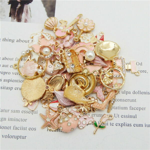 31pcs Pack Alloy Enamel Series Pendant Charm DIY Findings Mixed Assorted Random $4.69