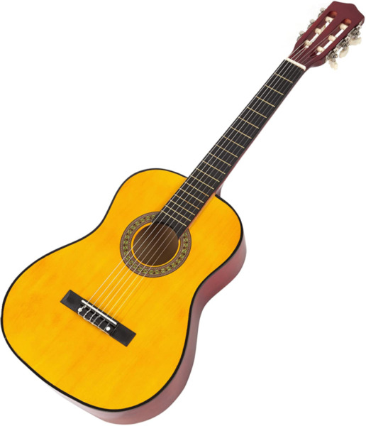 Music Alley 6 String Junior Guitar Right Handed Natural MA34 N $55.99