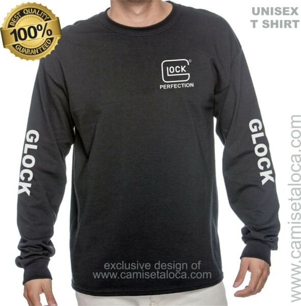 OFFICIALLY LICENSED GLOCK PERFECTION LOGO T SHIRT LONG SLEEVE
