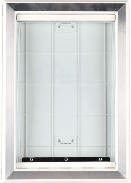 Weather Pet Dog Doors Exterior Cat Entry Large Dogs Heavy Duty Locking Panel M L $61.99
