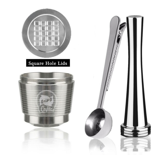 i Cafilas Stainless Steel Reusable NESPRESSO Capsules Pod Filter Updated Version