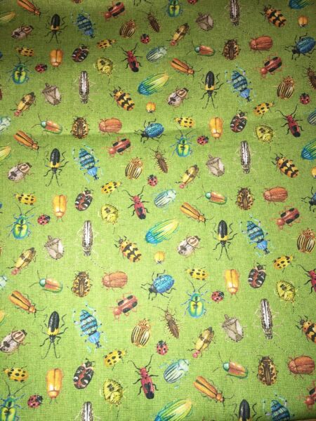 INSECTS BUGS Fabric 1 4 yard New $5.99