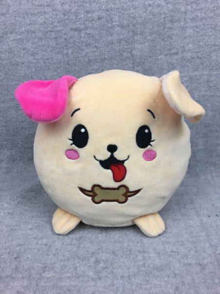 Pikmi Pops 8quot; Bean Plush Puppy Dog Pink Yellow 2017 Moose Squishable Soft $11.95