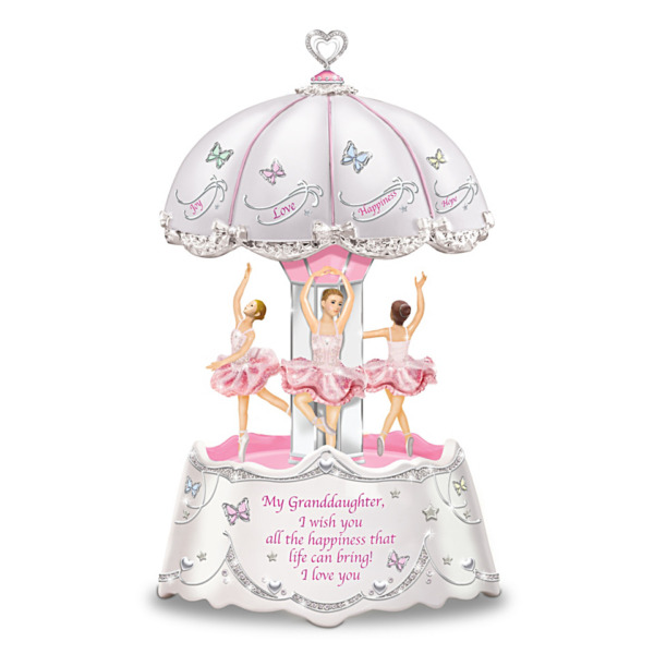 Limited Ed. quot;Granddaughter I Wish You Heartfelt Wishesquot; Musical Carousel Gift