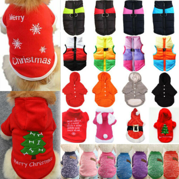 Winter Pet Dog Puppy Thermal Sweater Coat Christmas Warm Costume Jacket Clothes $7.21