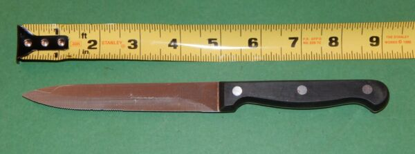 Chicago Cutlery Full Tang 1l11D 5quot; Carving Slicing Knife w 3 Rivet Wooden Handle