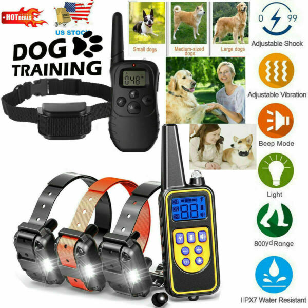 Remote Dog Shock Training Collar Rechargeable Waterproof LCD Pet Trainer US $39.59