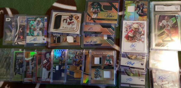 Football 🔥 5 hit Pack 2 Autographs Jersey Relic Auto Hot Pack Rookies 30 cards