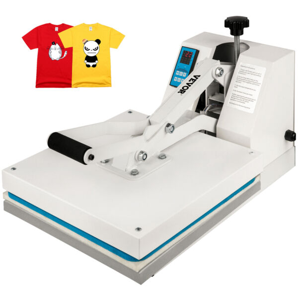 Heat Press 15quot;X15quot; Clamshell Sublimation Transfer Machine T Shirt DIY 1400W $169.99