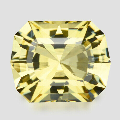 5.20cts EXQUISITE CUSTOM CUSHION CUT NATURAL YELLOW BERYL VIDEO IN DESCRIPTION $199.00