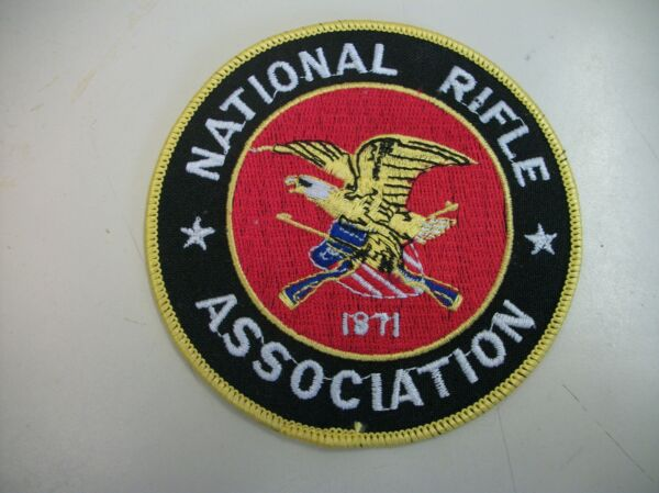 NRA NATIONAL RIFLE ASSOCIATION EMBROIDERED PATCH 3 #x27; Round. $5.75