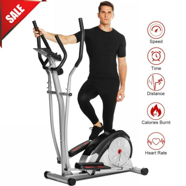 Elliptical Machine Exercise Trainer for Home Use Magnetic Smooth Quiet Driven $285.19