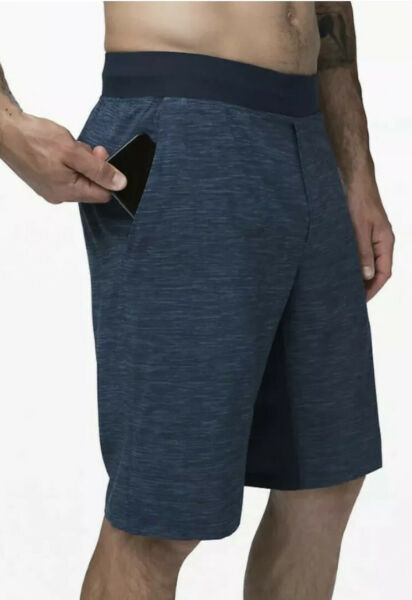 SOLD OUT🍀Lululemon L THE Short Linerless 11quot; Ironblue True Navy NWT $64