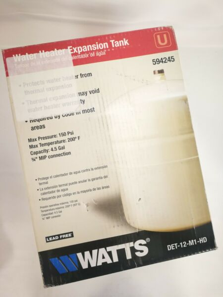 Watts Pre Pressurized Steel Water Expansion Tank DET 12 M1 HD $39.99