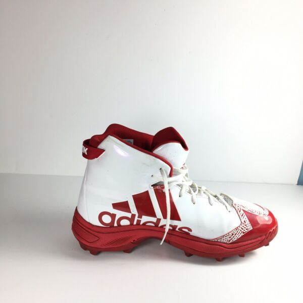 Adidas Freak X Carbon High Cleats Men#x27;s White Red Size 14 $22.50