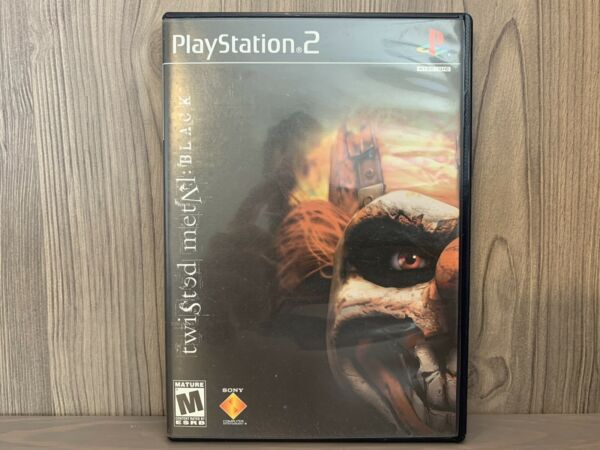 Twisted Metal: Black PS2 Awesome Cleaned and Tested