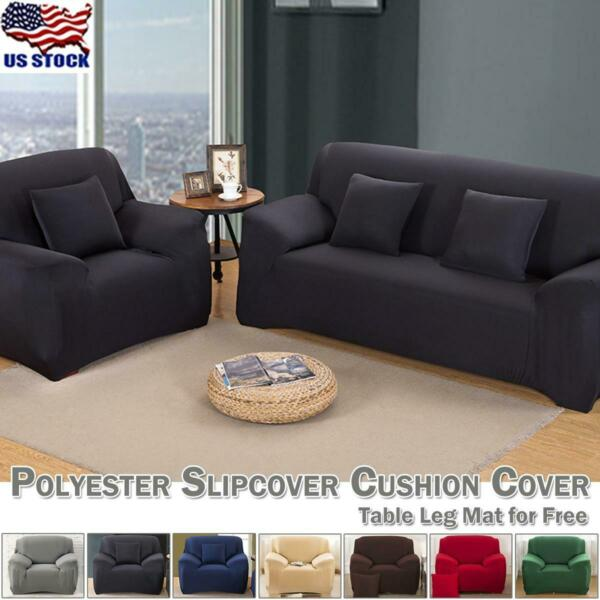 1 4 Seats Slipcover Sofa Covers Polyester Spandex Stretch Couch Cushion Cover $27.09