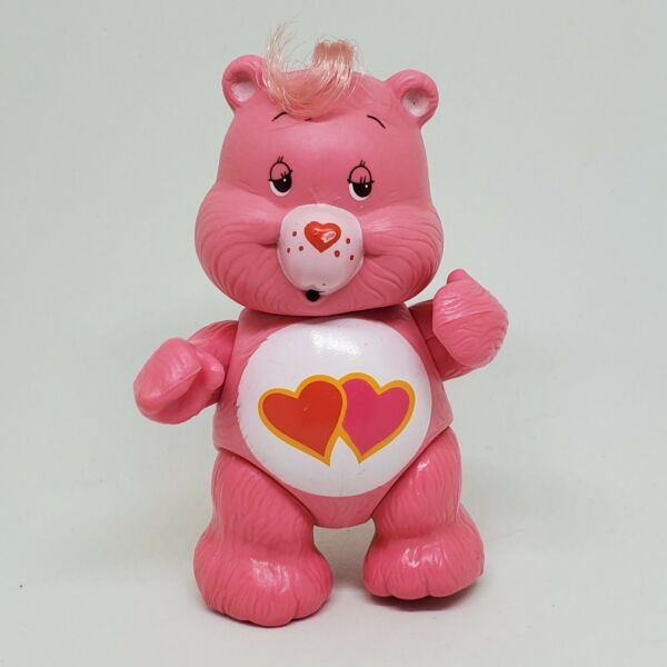 Vintage Care Bears Poseable Figure Love A Lot 1983 Kenner Pink Hearts
